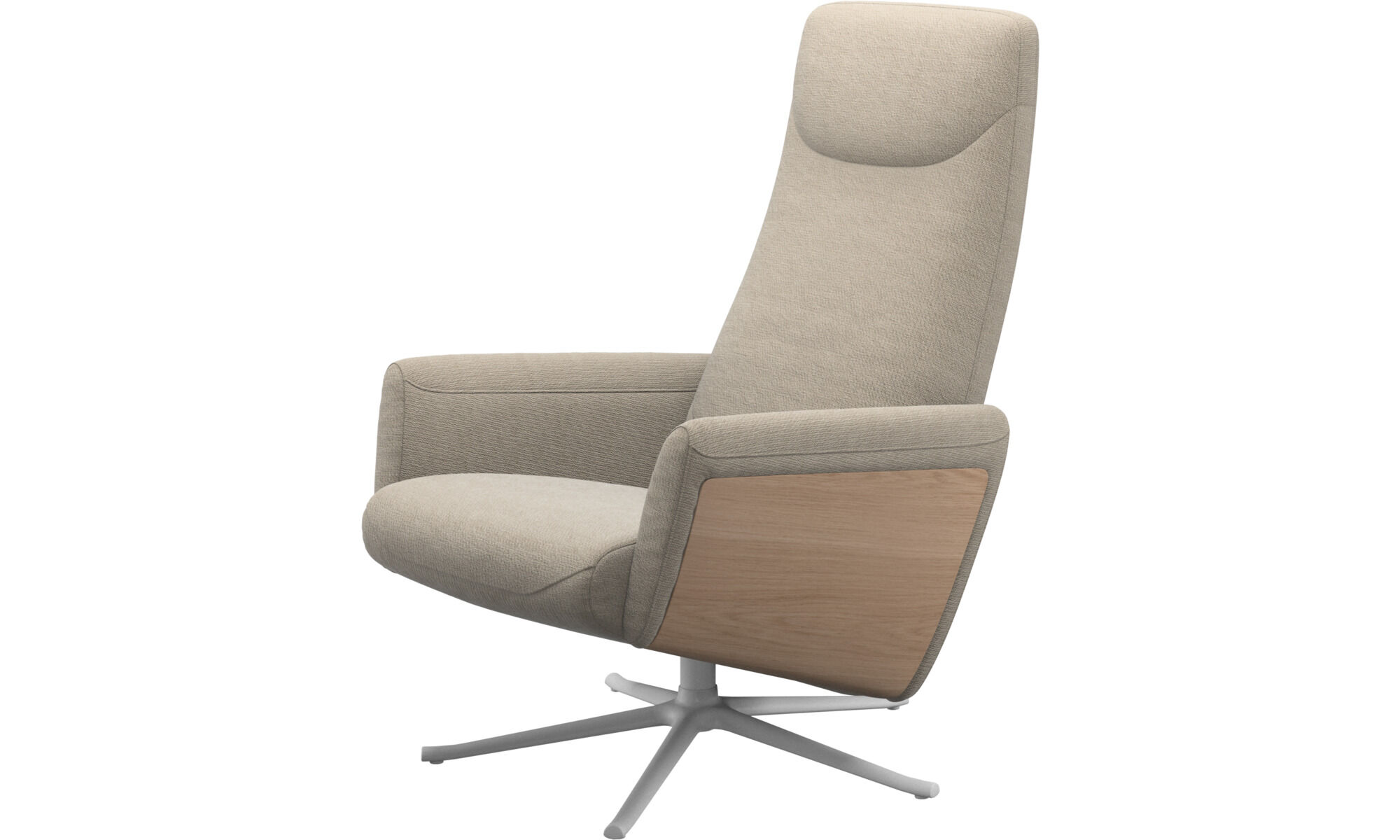 Sessel   Lucca Relax Sessel Mit Drehfunktion   Beige   Stoff