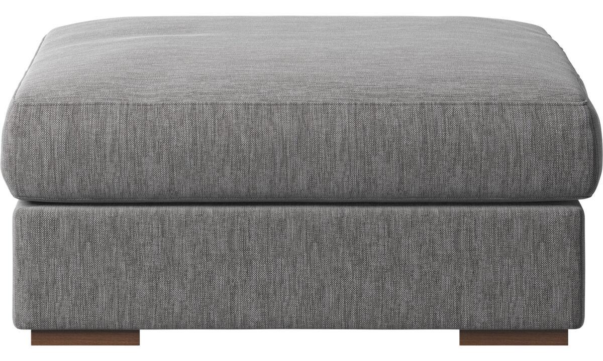 Footstools - Cenova footstool - Grey - Fabric