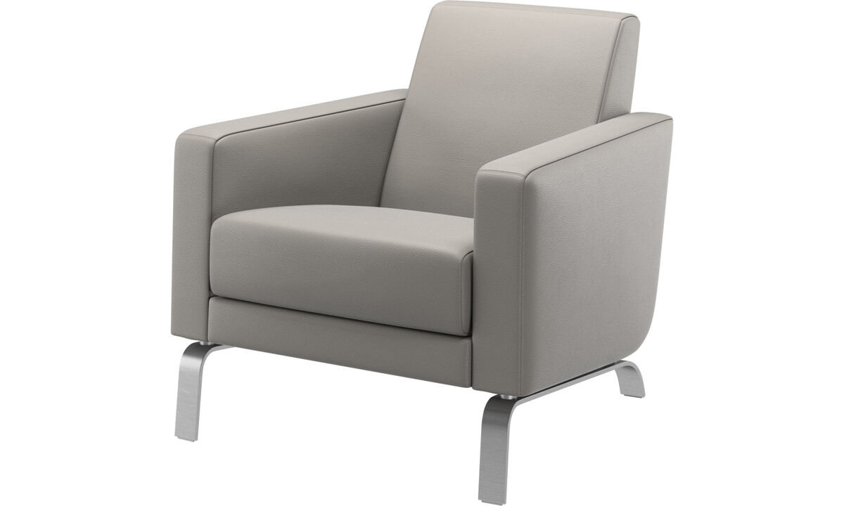 Armchairs - Fly chair - Gray - Leather