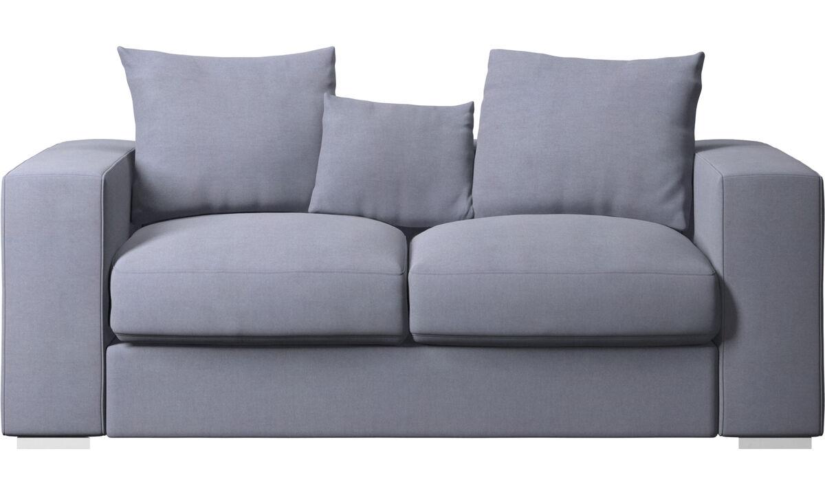 2 seater sofas - Cenova sofa - Blue - Fabric