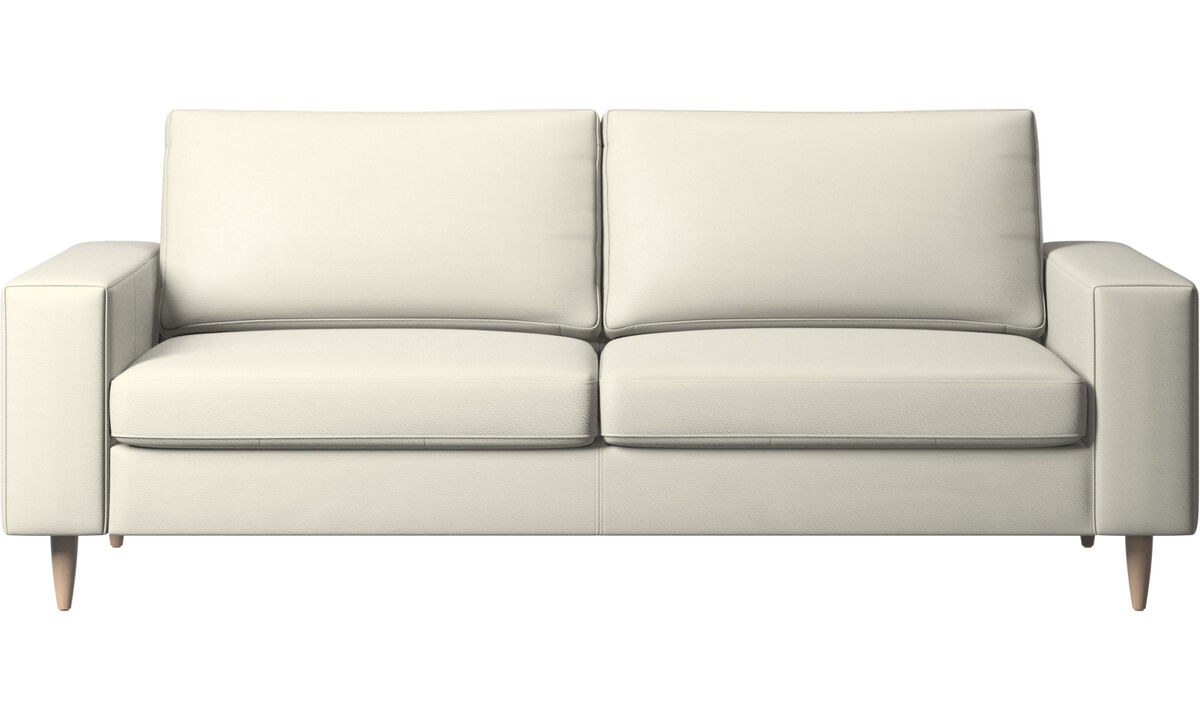2.5 seater sofas - Indivi 2 sofa - Beige - Leather