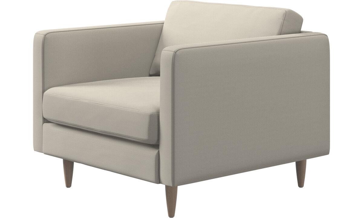 Nouveaux designs - fauteuil Osaka, assise classique - Blanc - Tissu