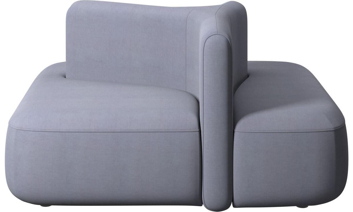 Modular sofas - Ottawa square low back - Blue - Fabric