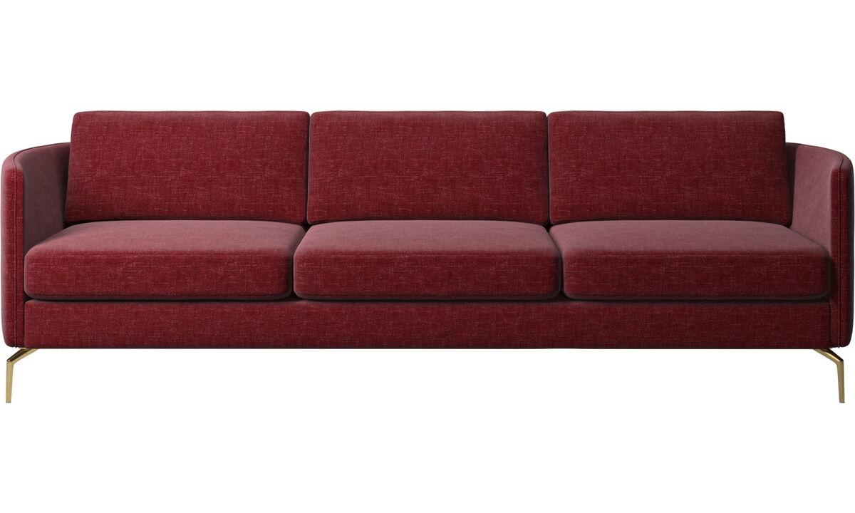 3 seater sofas - Osaka sofa, regular seat - Red - Fabric