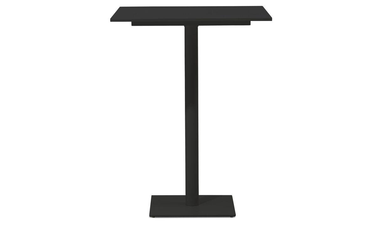 Mesas de reuniones - Mesa de bar Torino - cuadrado - En negro - Laminado