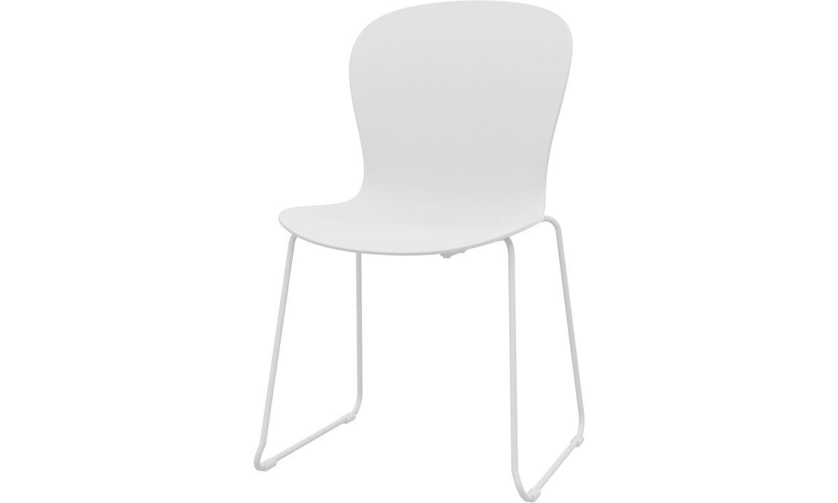 Sillas de comedor - Silla Adelaide (apta para uso interior y exterior) - Blanco - Plástico