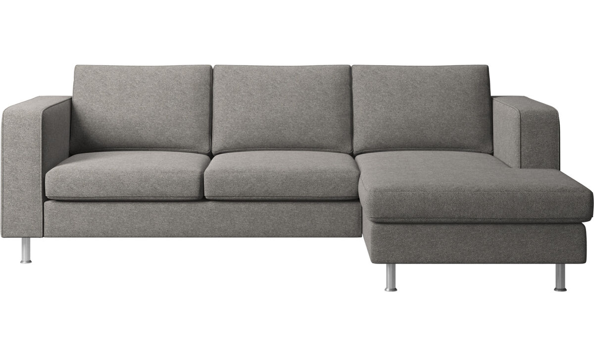 Chaise lounge sofas - Indivi sofa with resting unit - Gray - Fabric