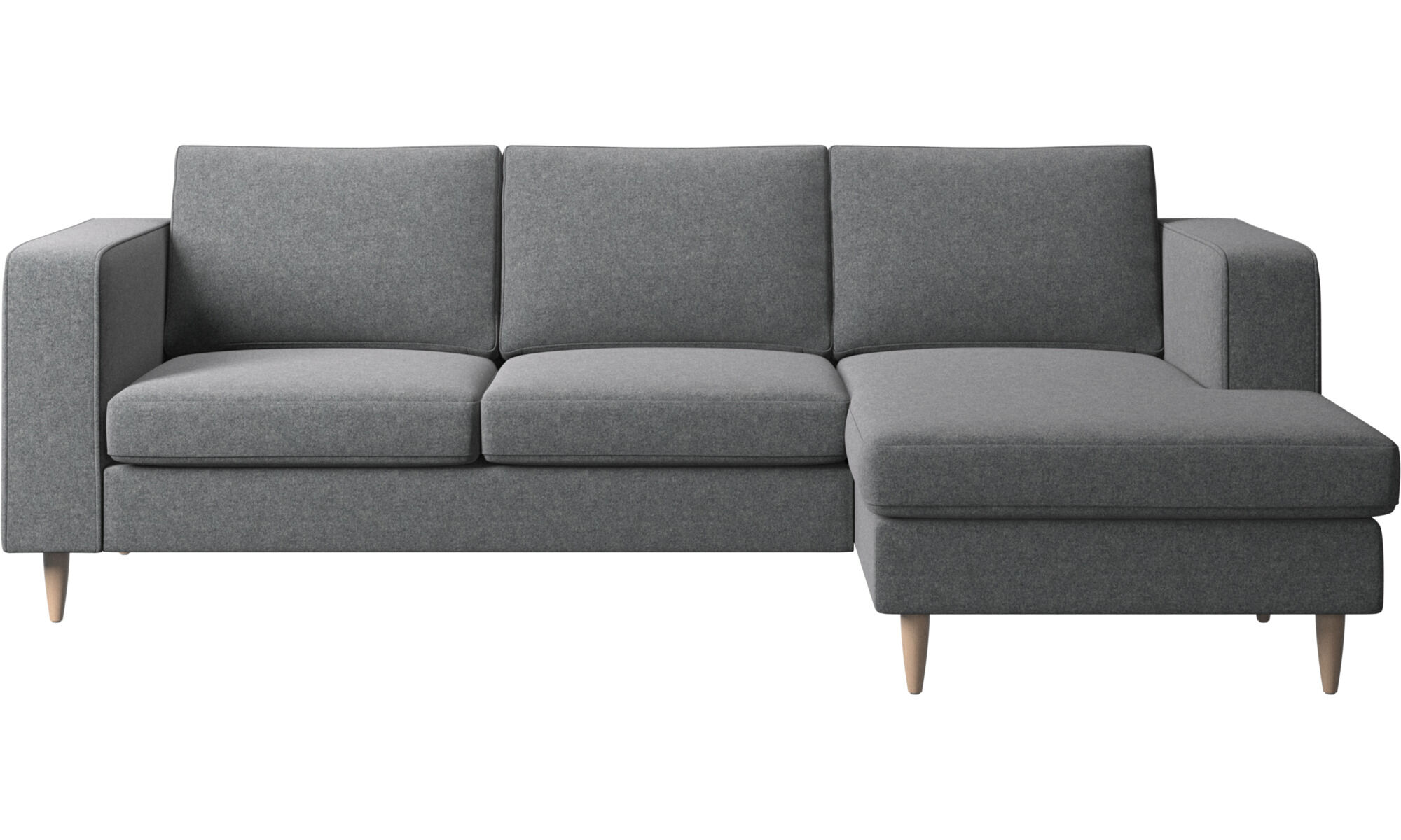 Chaise Lounge Sofas   Indivi 2 Sofa With Resting Unit   Gray   Fabric