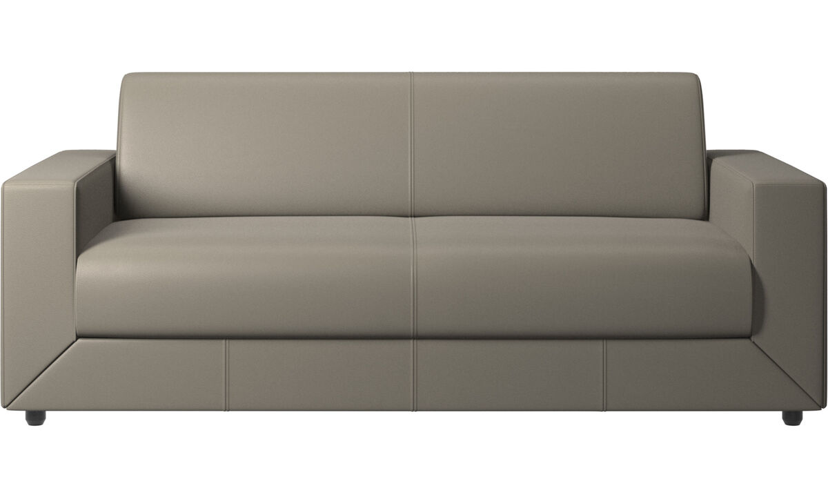 Sofa beds - Stockholm sofa bed - Grey - Leather