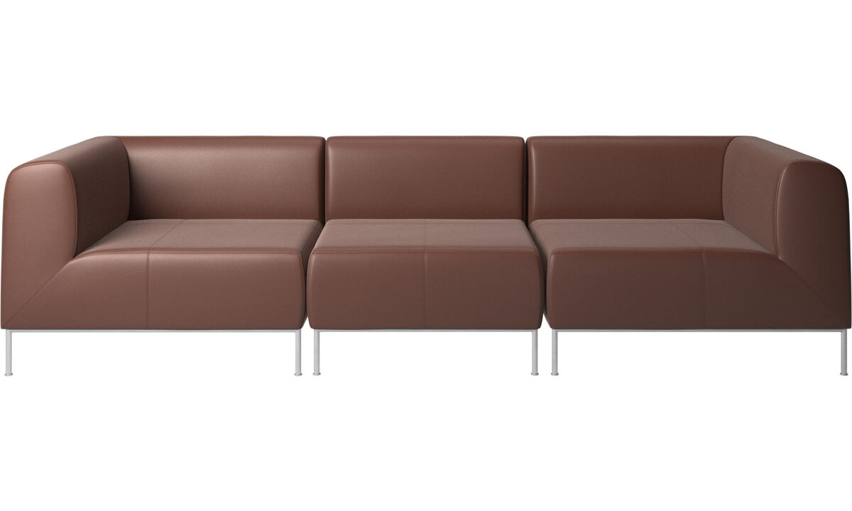3 seater sofas - Miami sofa - Brown - Leather