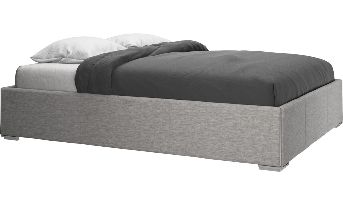 Beds - Mezzo bed, excl. mattress - Gray - Fabric