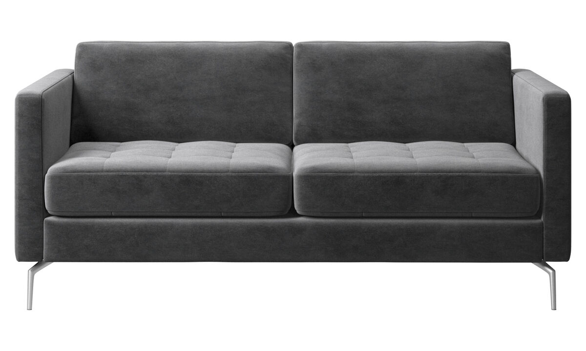New designs - Osaka sofa, tufted seat - Gray - Fabric