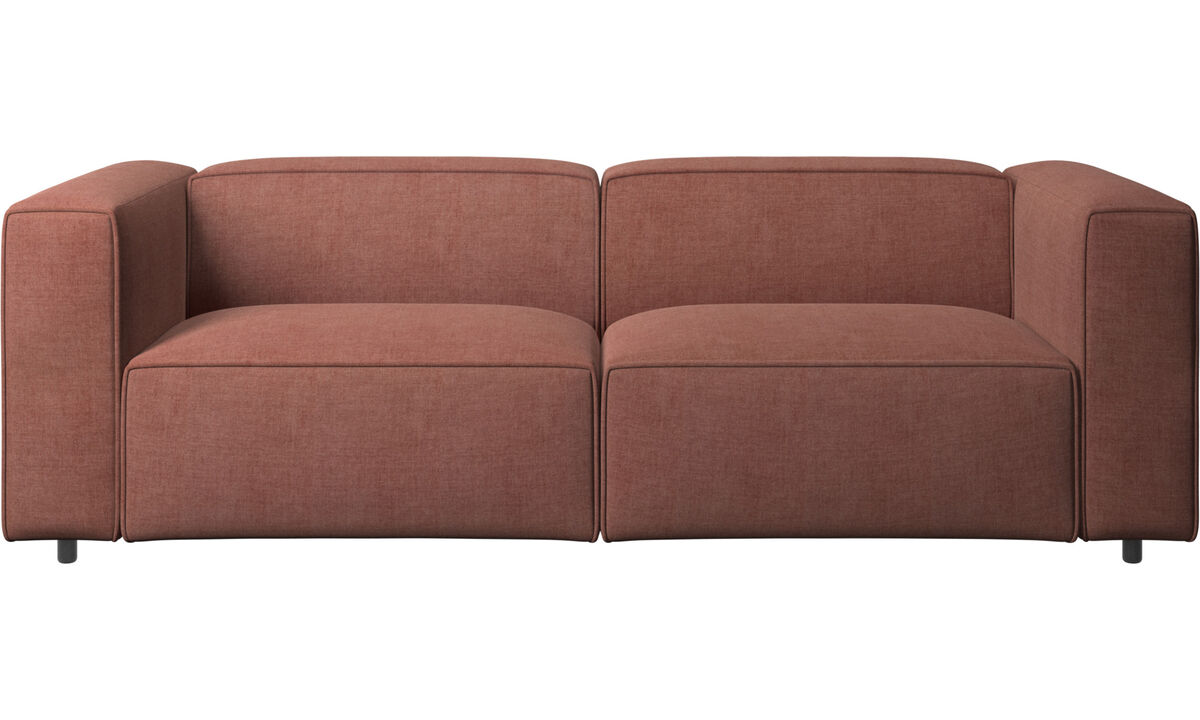 2.5 seater sofas - Carmo motion sofa - Red - Fabric