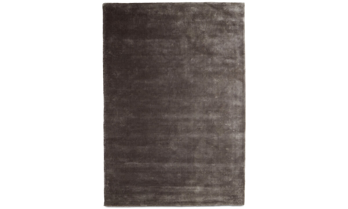 Rectangular rugs - Loom rug - rectangular - Grey - Tencel