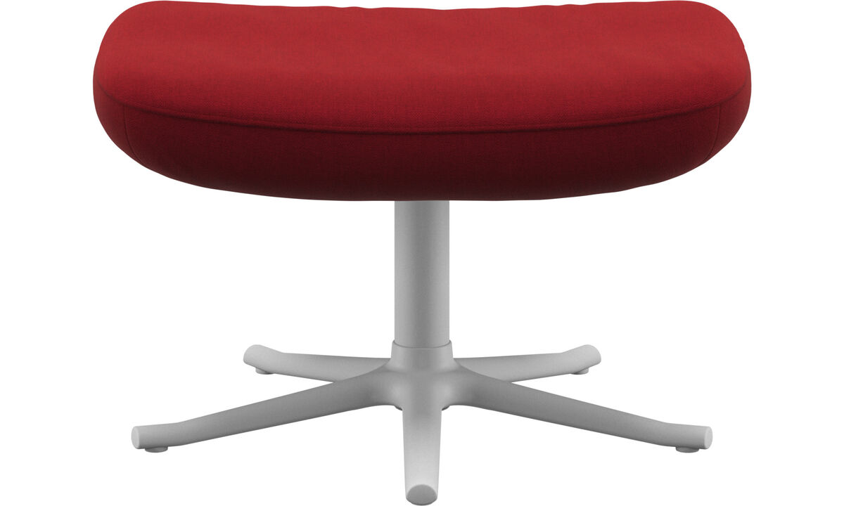 Footstools - Lucca footstool - Red - Fabric
