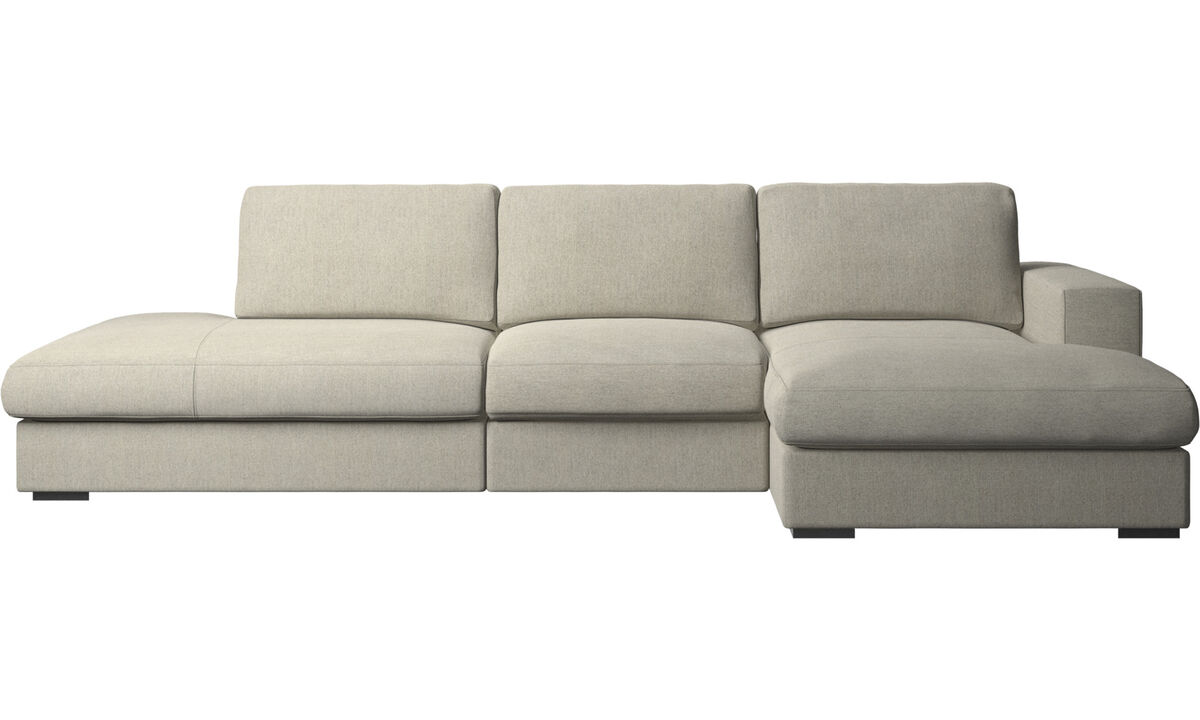 Диваны без подлокотников - диван Cenova с модулем для отдыха - Бежевого цвета - Tкань