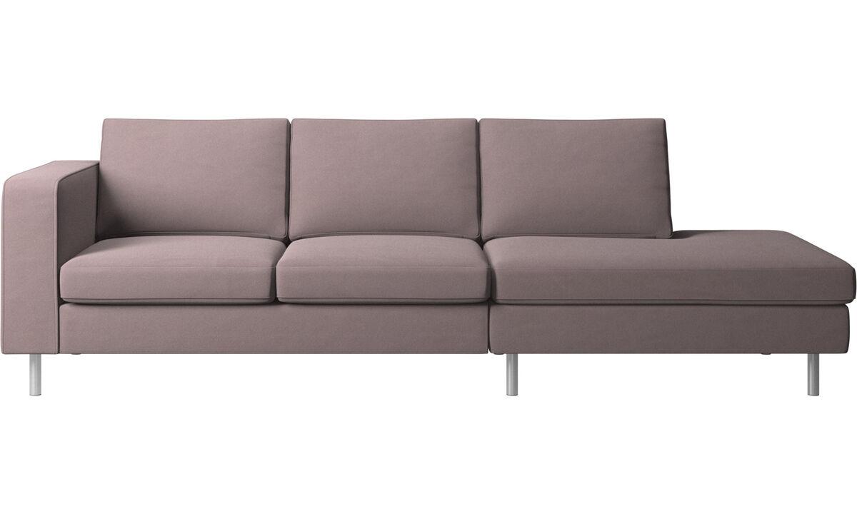 Sofás con lado abierto - sofá Indivi con módulo de descanso - Morado - Tela