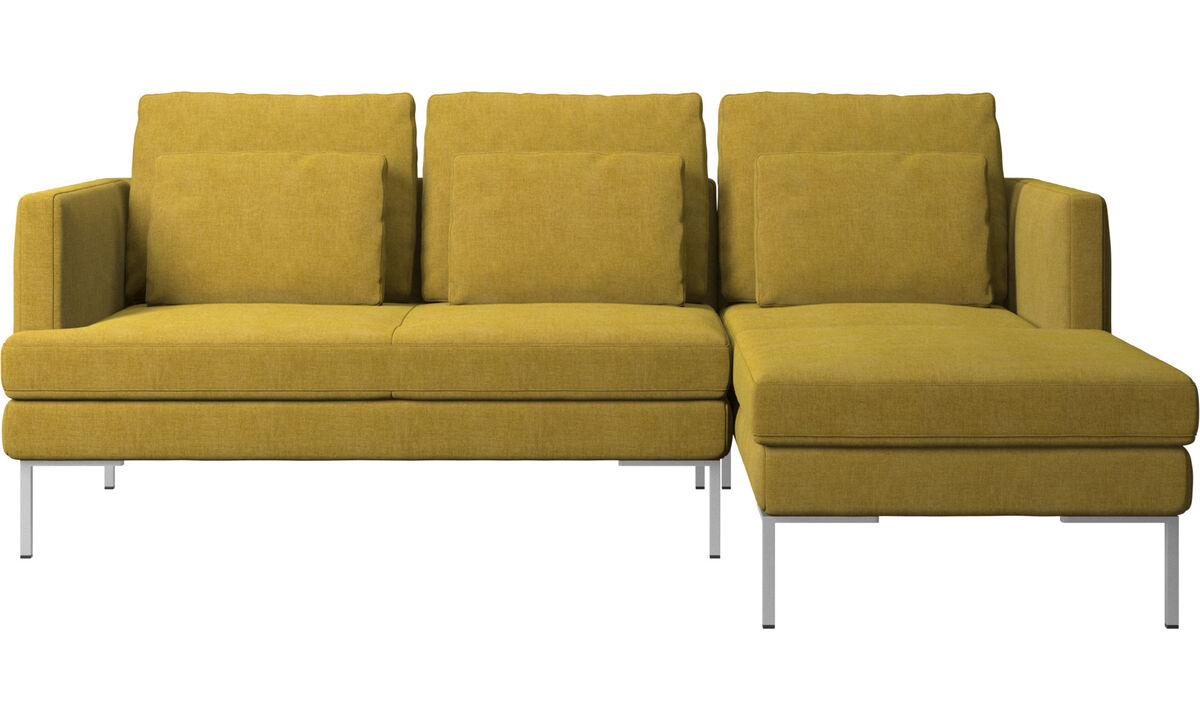 Sofás con chaise longue - sofá Istra 2 con módulo chaise-longue - En amarillo - Tela