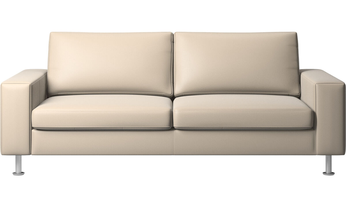 Sofa beds - Indivi sofa bed - Beige - Leather