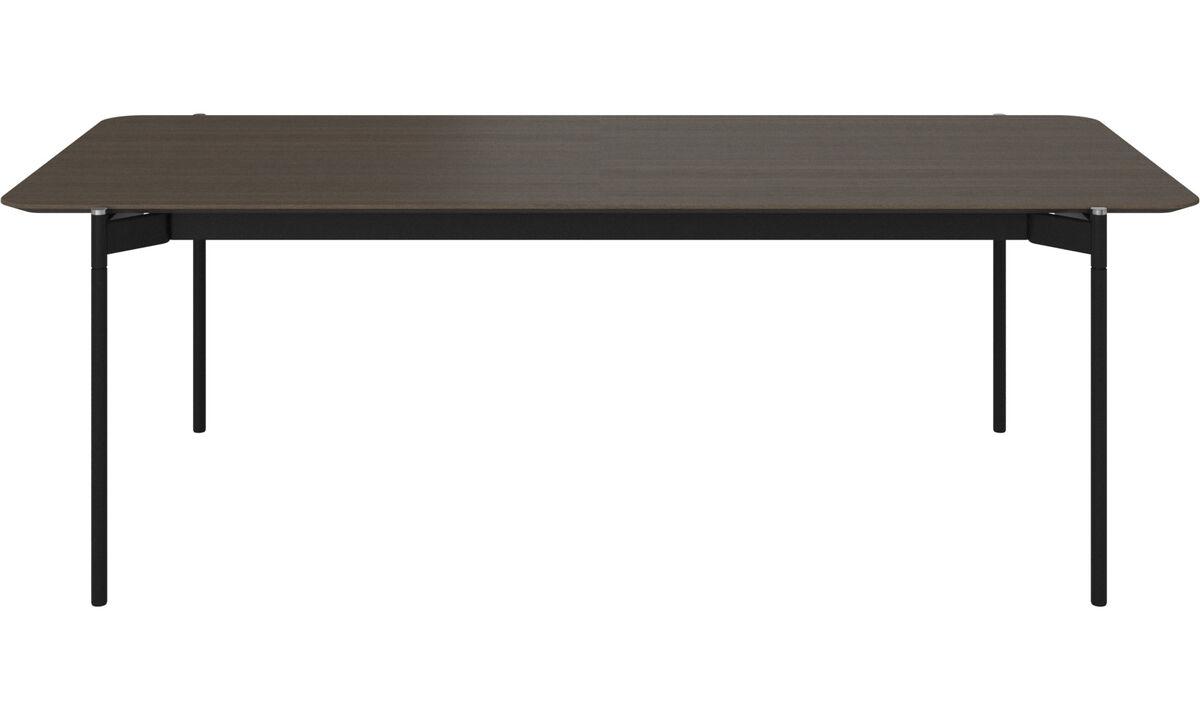 Eetkamertafel - Augusta tafel met extra tafelblad - rechthoekig - Bruin - Eiken