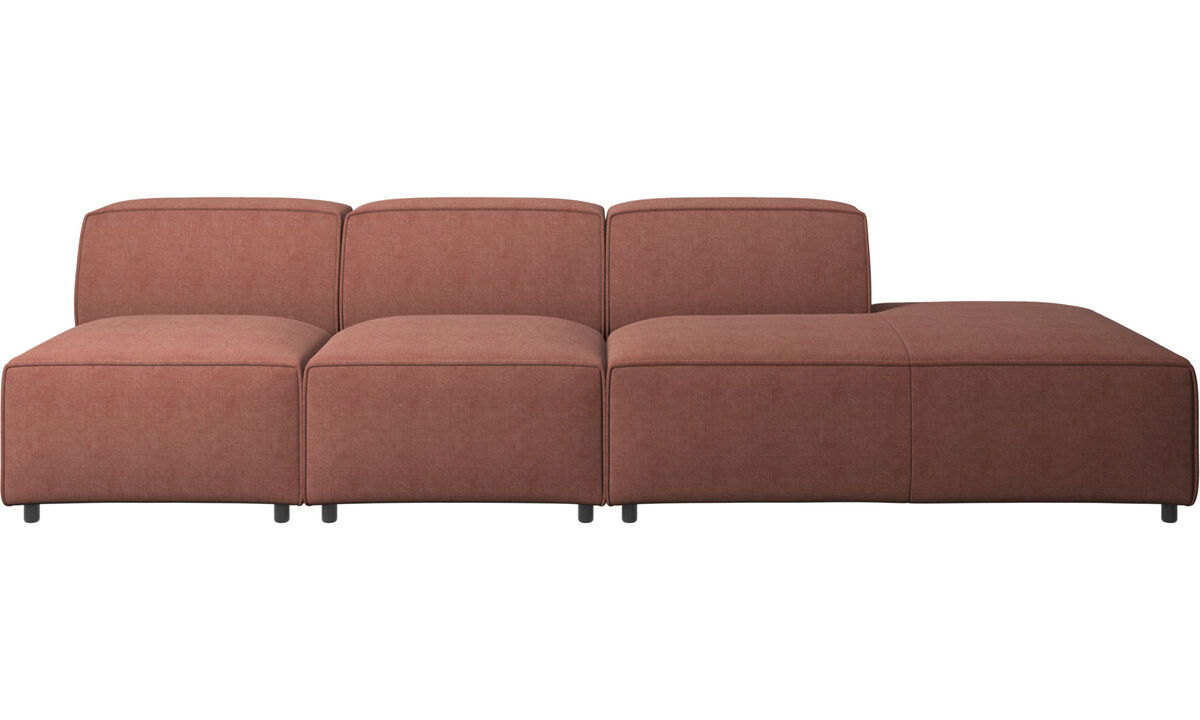 Sofas with open end - Carmo sofa with lounging unit - Red - Fabric
