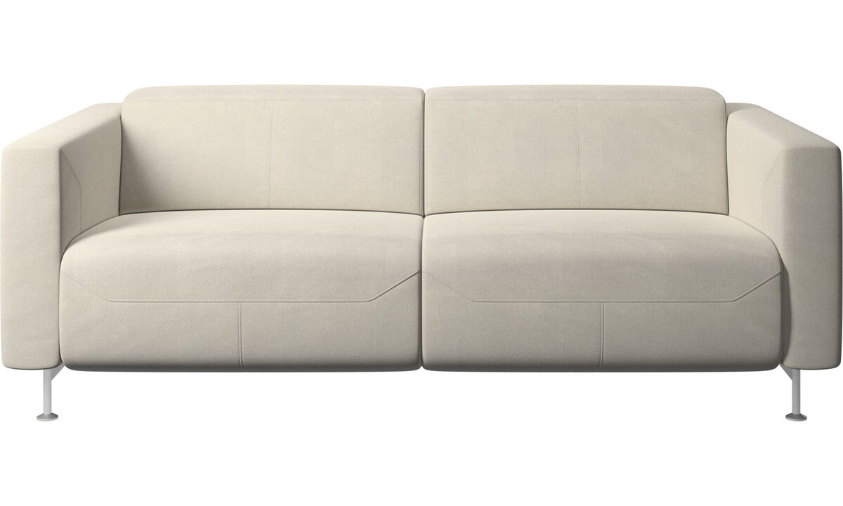 2 seater sofas - Parma reclining sofa - White - Fabric