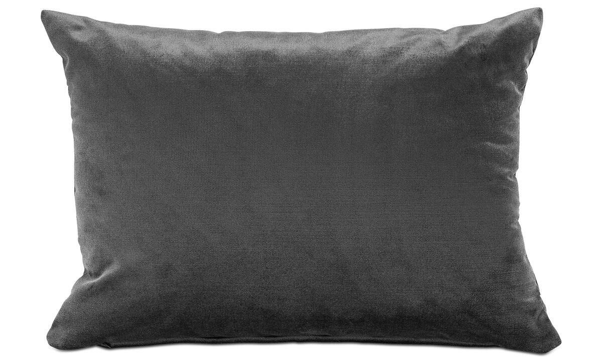 Velvet cushions - Velvet cushion - Gray - Fabric