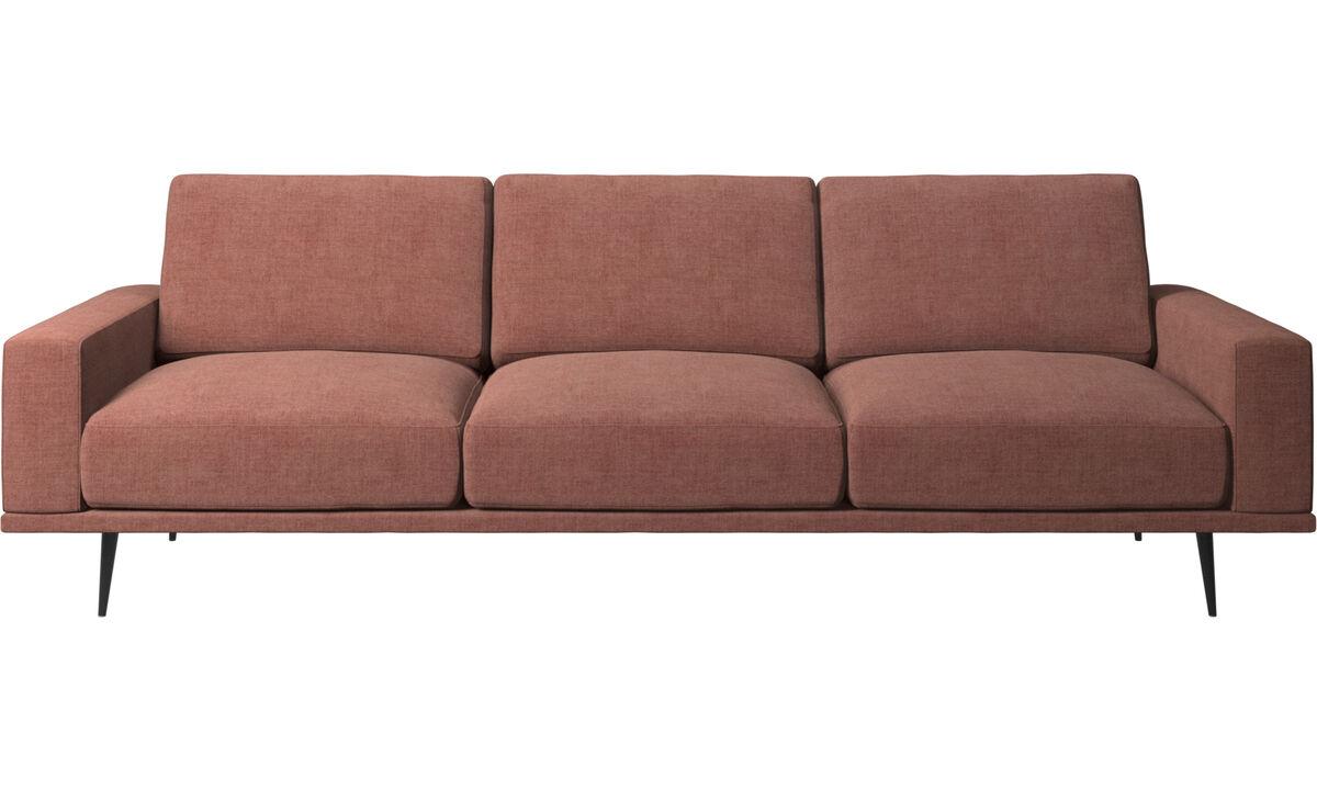 Sofás de 3 lugares - sofá Carlton - Vermelho - Tecido