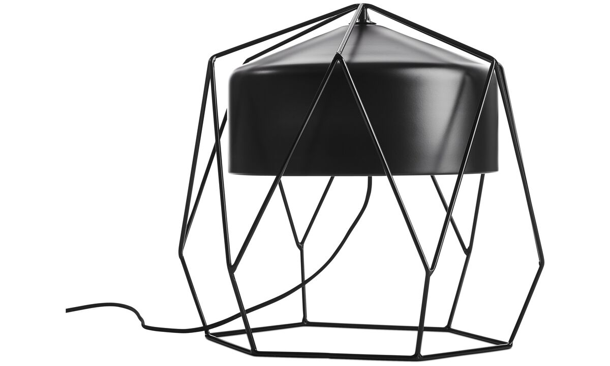 Lamps - Hexagon table lamp - Black - Metal
