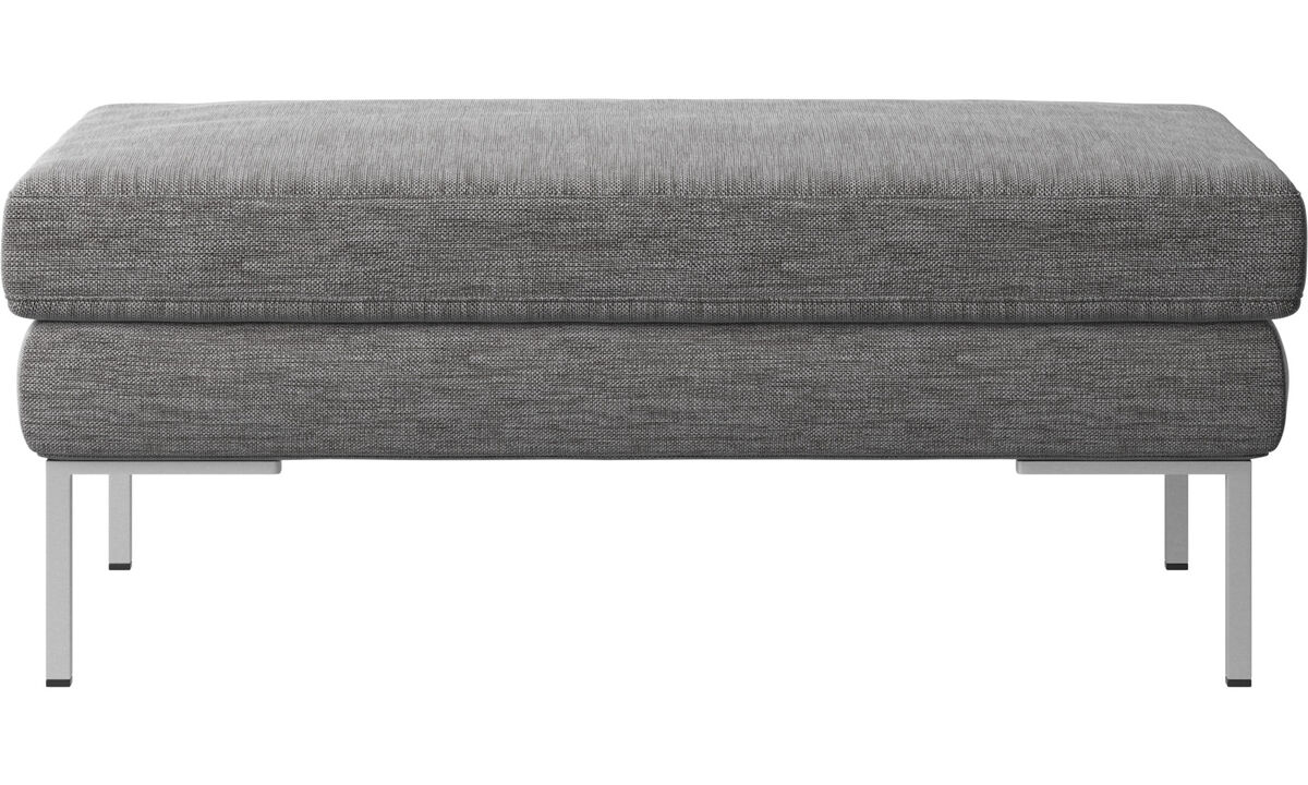 Footstools - Istra 2 footstool - Grey - Fabric