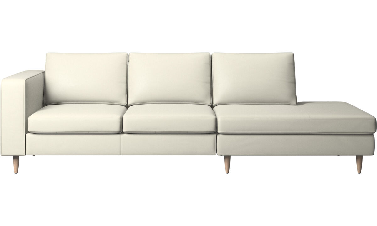 Sofas - Indivi 2 sofa with lounging unit - Beige - Leather