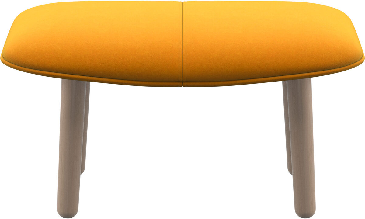 Footstools - fusion footstool - Orange - Fabric