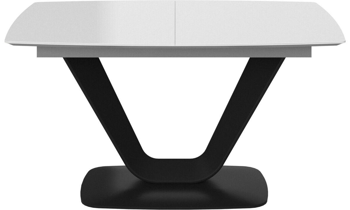 Eetkamertafel - Alicante tafel met extra tafelblad - rechthoekig - Wit - Glas