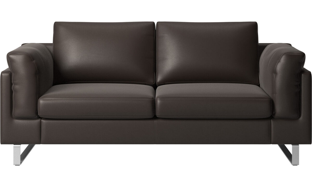 2 seater sofas - Indivi sofa - Brown - Leather