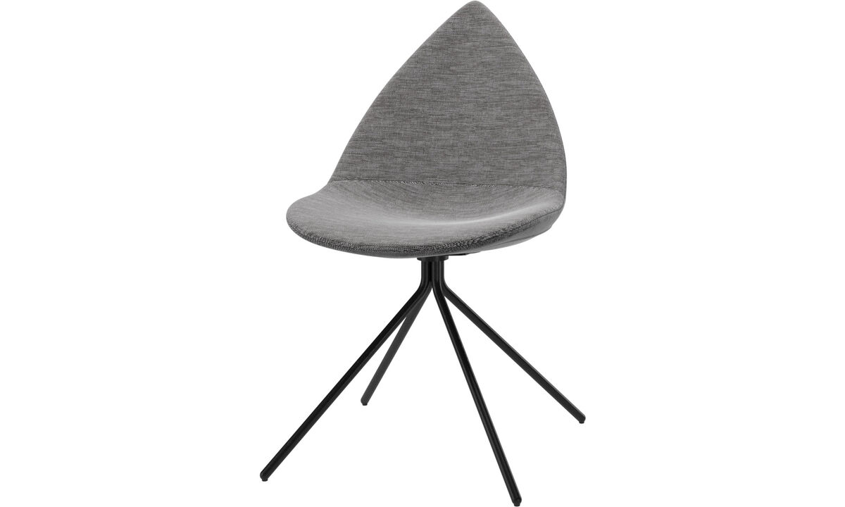 Dining chairs - Ottawa chair - Gray - Fabric