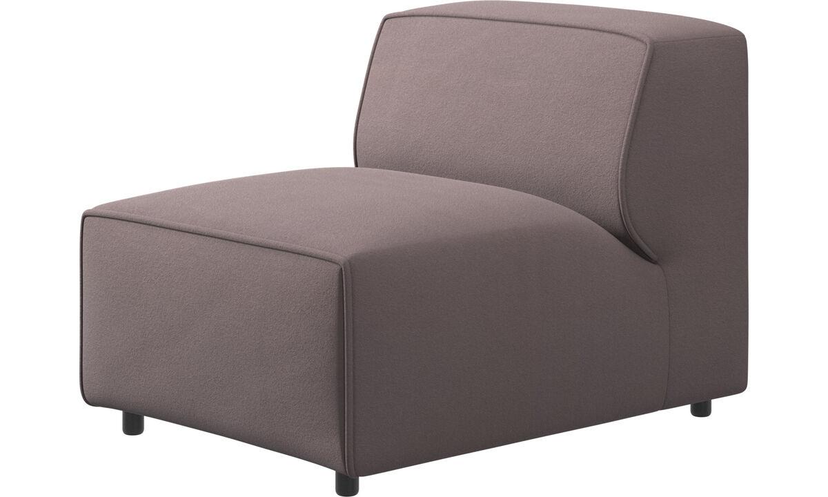 Sofás modulares - silla/módulo básico Carmo - Morado - Tela