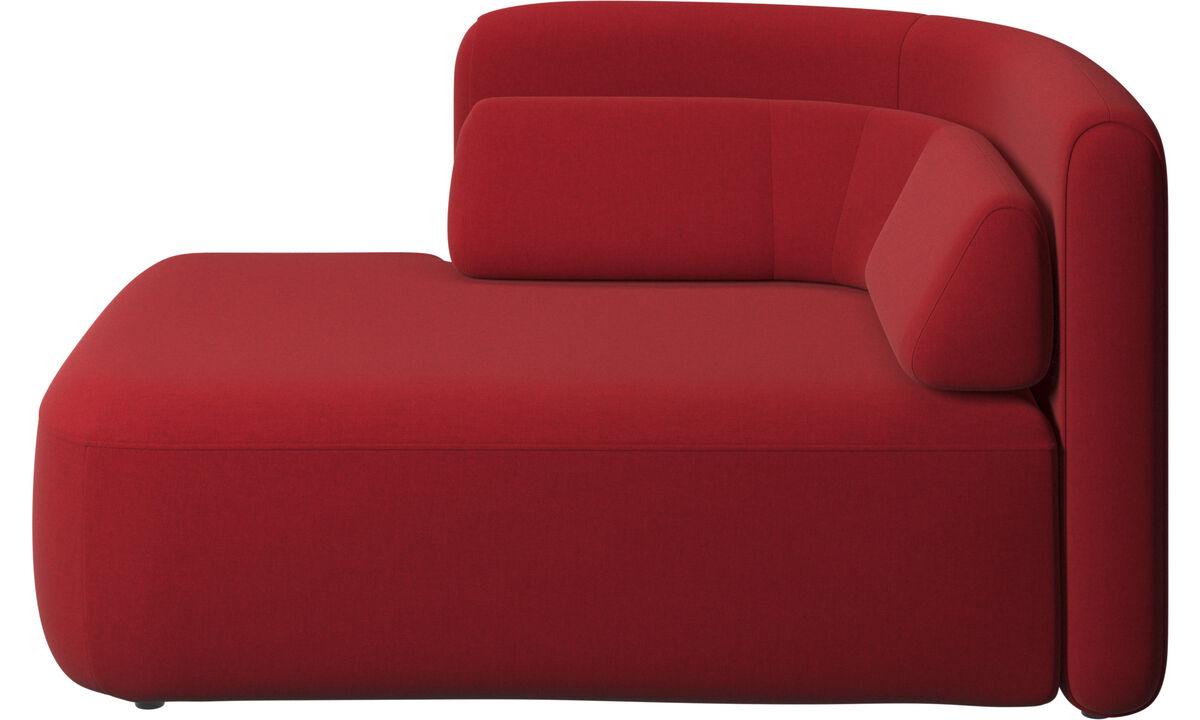 Sofás modulares - assento Ottawa 1,5 aberto lado esquerdo - Vermelho - Tecido