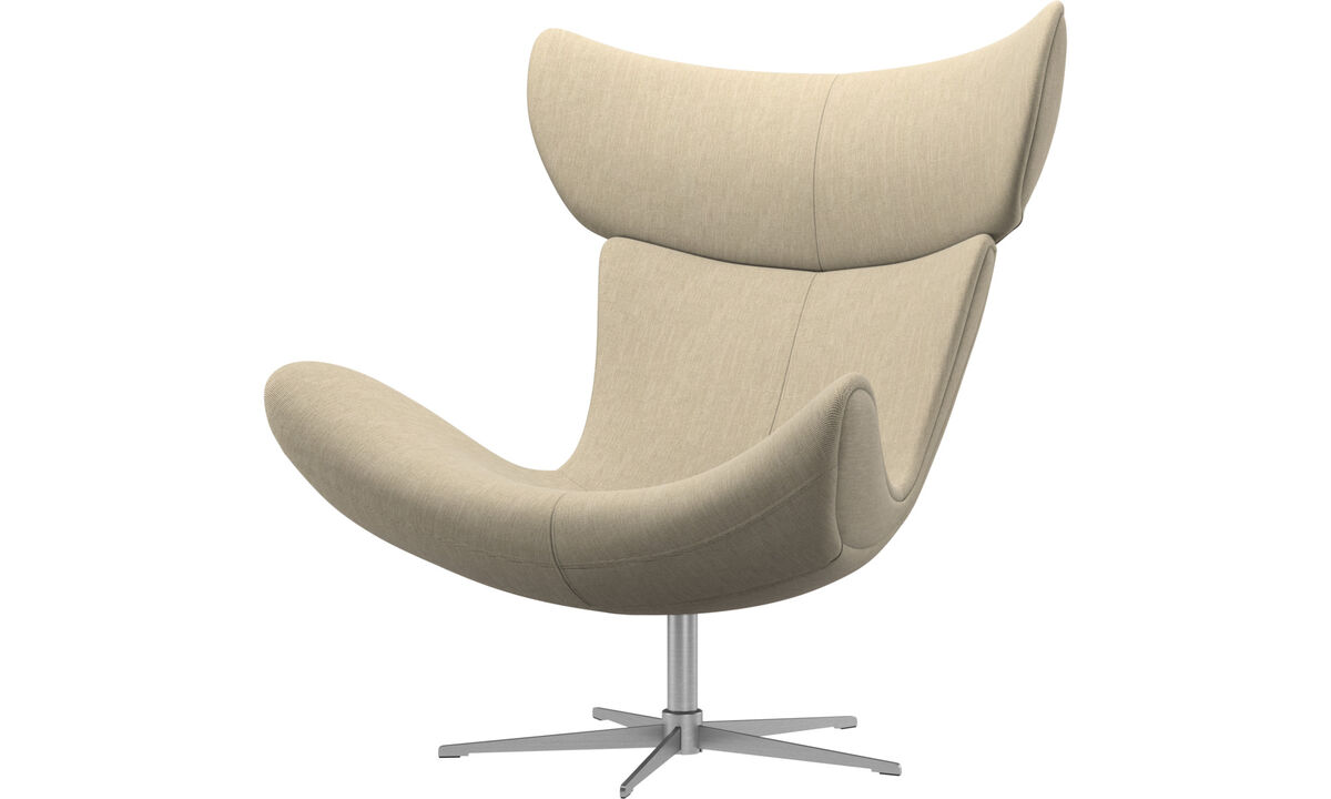 Armchairs - Imola chair with swivel function - Brown - Fabric