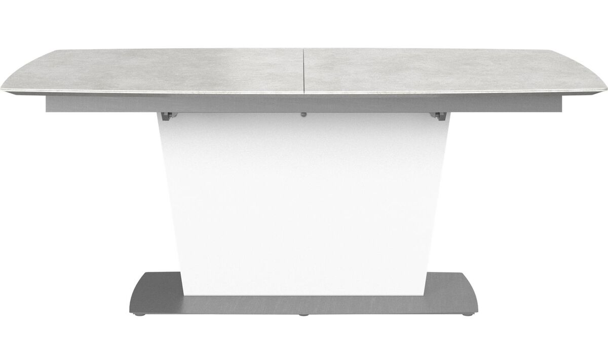 Dining tables - Milano table with supplementary tabletop - square - Gray - Ceramic