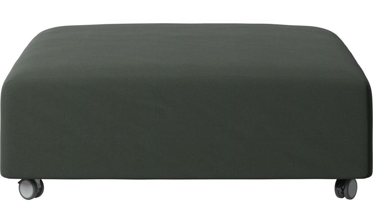 Footstools - Hampton footstool on wheels - Green - Fabric