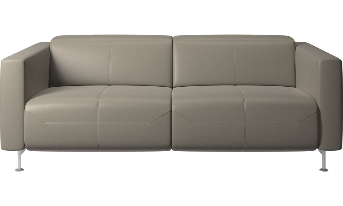 2 seater sofas - Parma reclining sofa - Grey - Leather