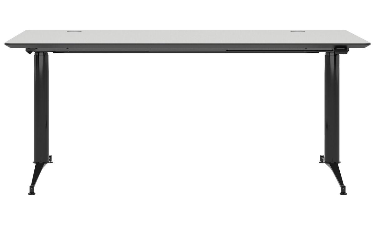 Desks - Phoenix electric office desk - square - White - Wood