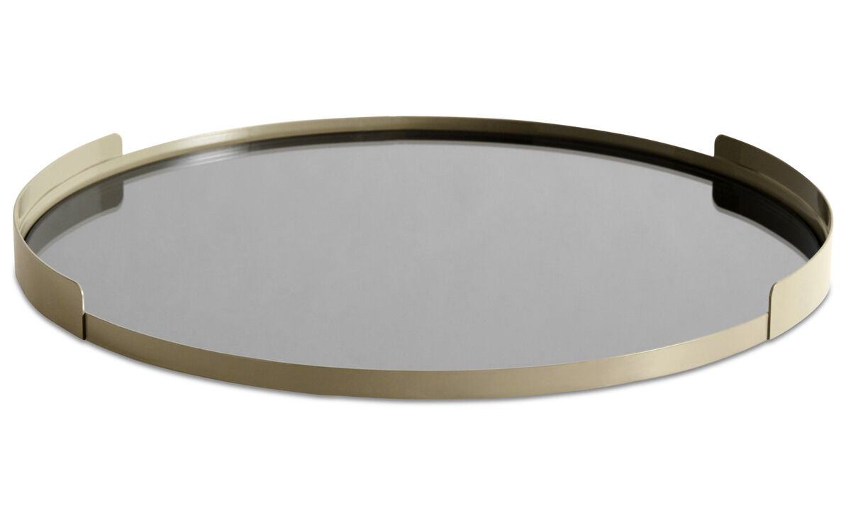 Decoration - Reflection metal tray - Brown - Metal