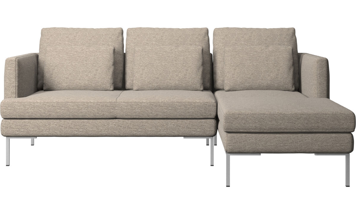 Sofás com chaise - Sofá Istra 2 chaise-longue - Bege - Tecido