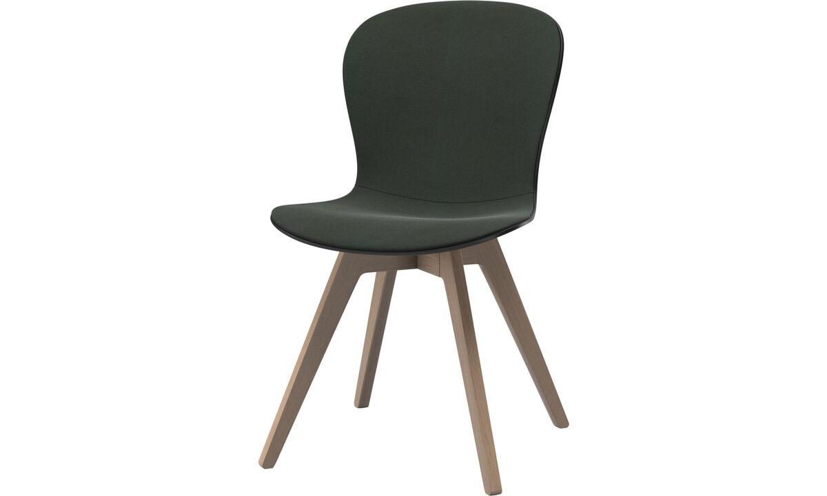 Sillas de comedor - silla Adelaide - En verde - Tela