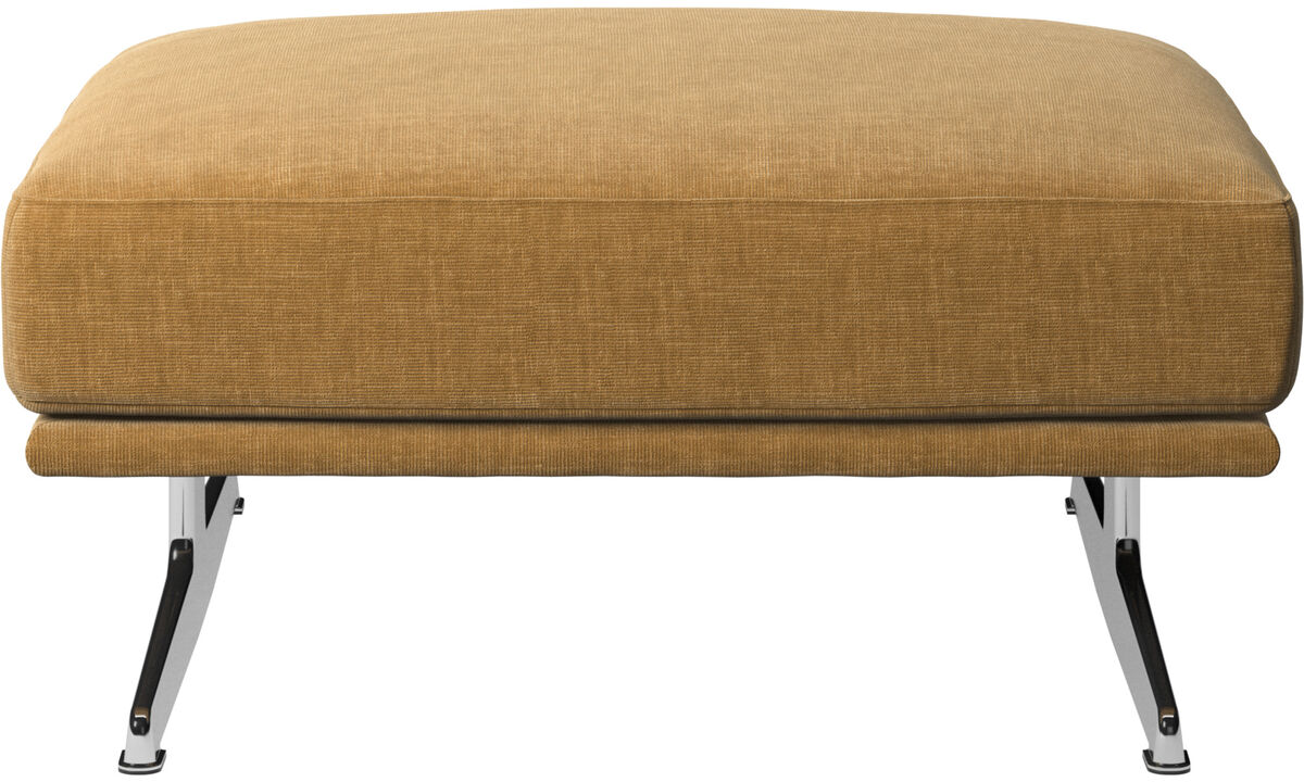 Footstools - Carlton footstool - Beige - Fabric