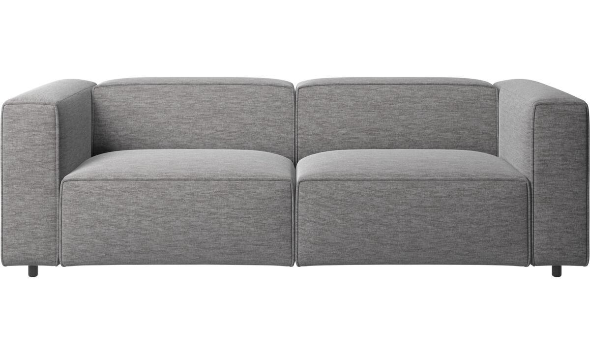 Sofás reclinables - Sofá Carmo con movimiento - En gris - Tela
