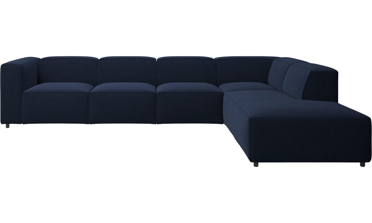 Sofas with open end - Carmo divano ad angolo con modulo relax - Blu - Tessuto