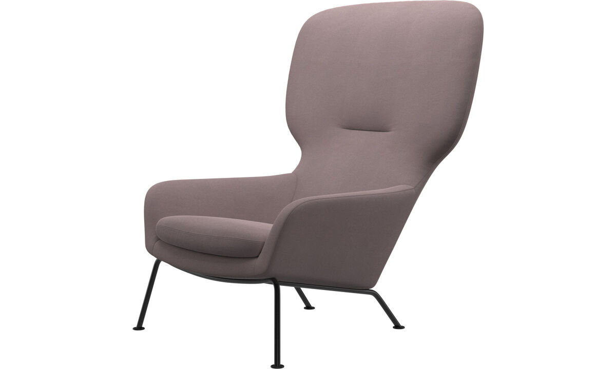 Armchairs - Dublin chair - Purple - Fabric