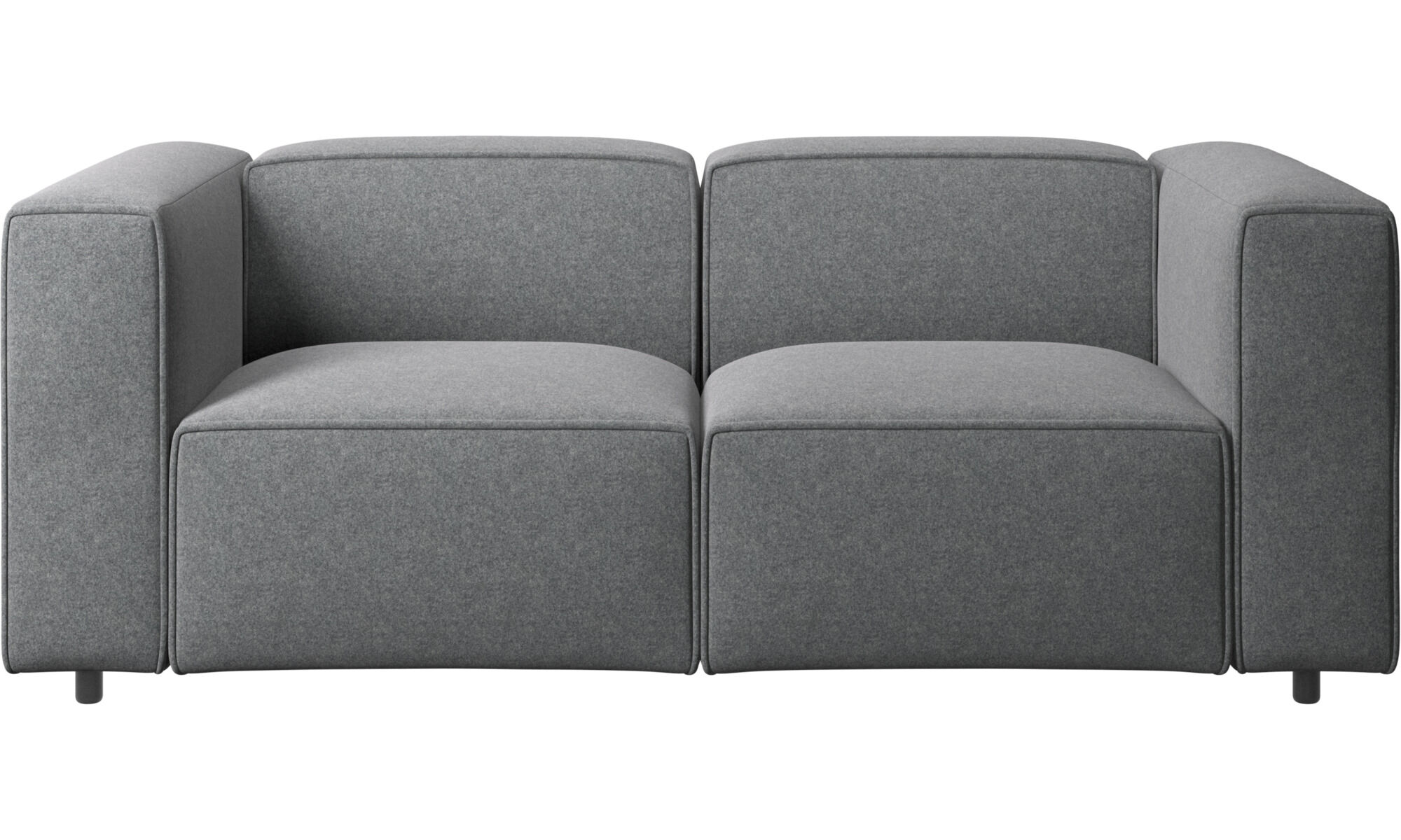 Genial 2 Seater Sofas   Carmo Sofa   Gray   Fabric ...